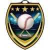 Vibraprint™ Shield Baseball Medallion (3