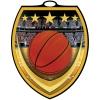 Vibraprint™ Shield Basketball Medallion (3