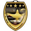 Vibraprint™ Shield Book and Lamp Medallion (3