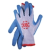 Barrier Gloves, Gray with Blue Palm