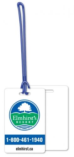 Luggage Tags .020 White Plastic (2.13