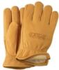 Winter Lined Gold Deerskin Leather Gloves