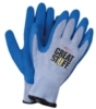 Blue & Gray Palm Dipped Gloves