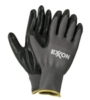 Black & Gray Palm Dipped Gloves
