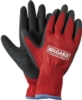 Red & Black Palm Dipped Gloves