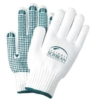 White Freezer Gloves w/Green Grip Dots