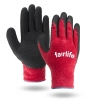 Red Terry Cloth Palm Dipped Gloves