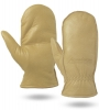 Winter Lined Premium Cowhide Leather Chopper Mittens