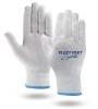 White High Performance Knit Running Gloves