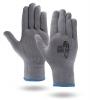 Gray High Performance Knit Running Gloves