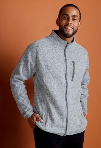 Men's Sweater Knit Fleece Jacket