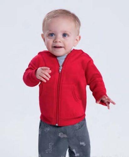 Infant Zip Fleece Hoodie - Red