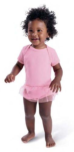 Infant Tutu Baby Rib Bodysuit - Pink