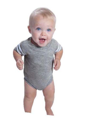 Infant Football Fine Jersey Bodysuit - Vintage Heather/Blended White