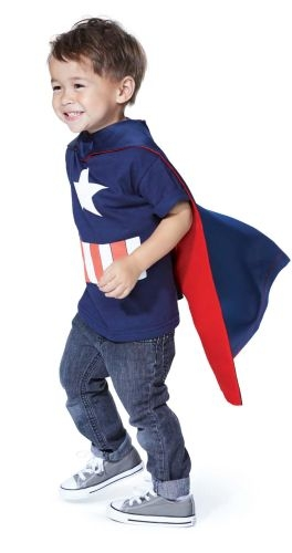 Toddler Cape - Red/Navy - New