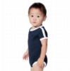 Infant Soccer Ringer Fine Jersey Bodysuit - Navy/White