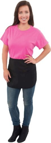 Fame® Cafe Rounded Waist Apron w/3 Divisional Pouch Pockets