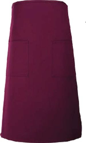 Fame® Full Bistro Apron w/2 Patch Pockets