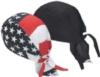 Doo-Rag Bandanna Cap in Black, Camo or Flag Design