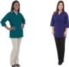 Fame® Women's Classic 4 Button Smock Available in 13 Colors
