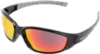 AMMO® Sport Black/Red Mirror Eyewear (Retail Ready)
