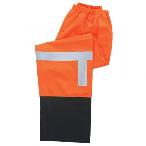 Aware Wear® ANSI Class E Hi-Viz Lime Black Bottom Rain Pant