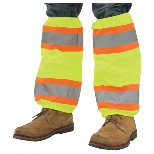Aware Wear® Hi Viz Leg Gaiters w/Contrasting Trim & PU Coating