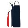 Fame® F33XL FLG Black Long No Pocket Bib Apron Flag Design Red/White/Blue