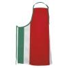 Fame® F33XL FLG Black Long No Pocket Bib Apron Flag Design Red/White/Green
