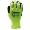 Hi Viz Lime Cotton/Poly Blend Latex Coated String Gloves