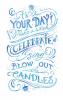 Blue Chalk Birthday