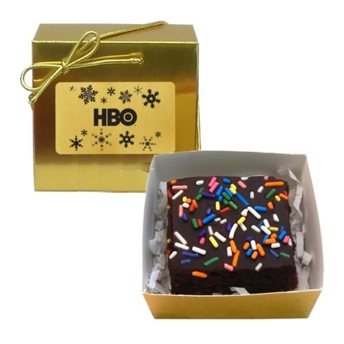 Chocolate Chip Fudge Brownie (1) - Ballotin Box