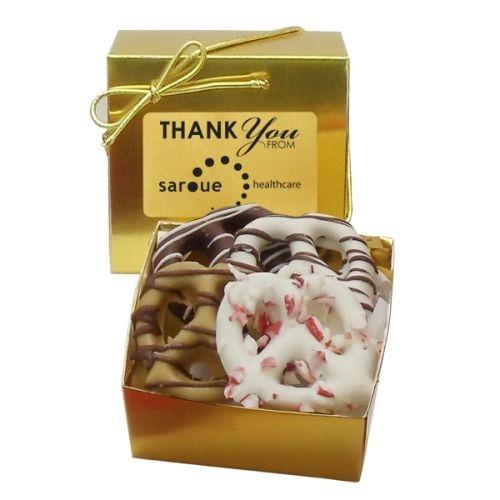 Holiday Chocolate Pretzel Grahams (4) - Ballotin Box