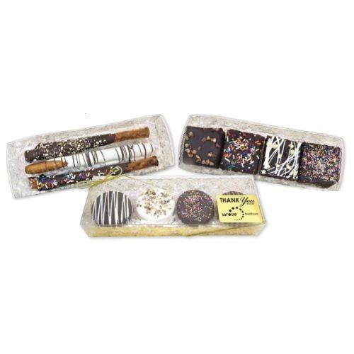 Chocolate Chip Fudge Brownies with Decorative Box