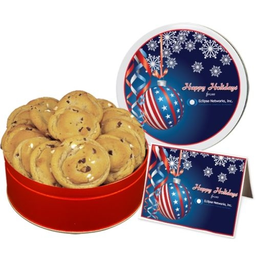 Double Chocolate Chip Cookies - Small Tin