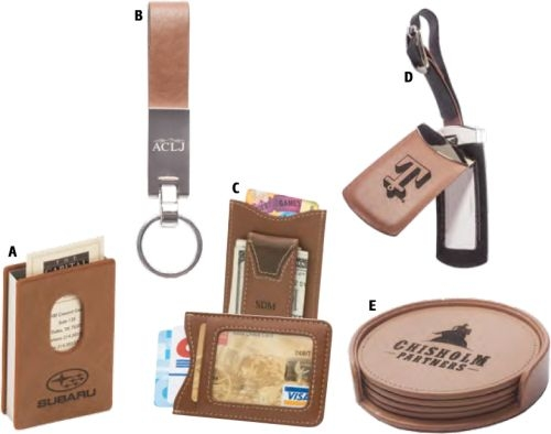 Brown Leatherette Wallet With Magnetic Money Clip Attached