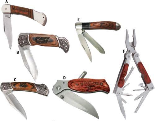 Wood Handle Multi-Tool And Knife