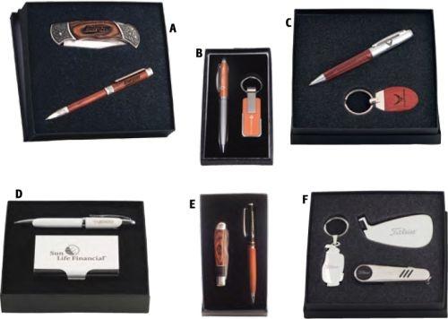 Business Card Case And Twist-Action Ballpoint Pen Medium Gift Set