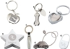 Silver Apple Keychain