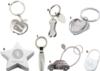 Silver Dog Bone Keychain