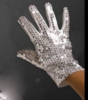 Silver Sequined Glove - Right Hand