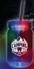 20 Oz. Multi Color LED Mason Jar w/ Straw