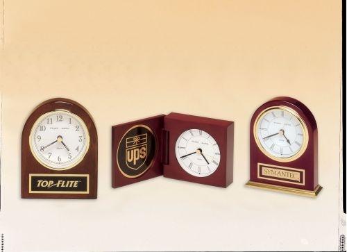 Rosewood Arched Desk Clock
