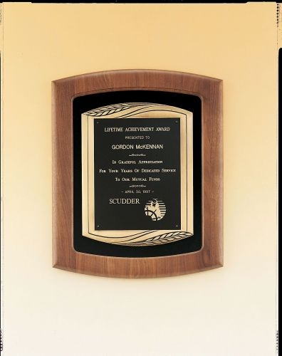 Airflyte Collection Walnut Plaque w/ Antique Bronze Frame Casting (14