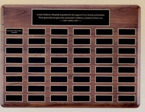 Perpetual Plaque w/ 60 Extra Large Individual Plates (22