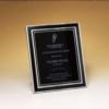 Black & Silver Aluminum Frame with Black Aluminum Engraving Plate - 6 1/2