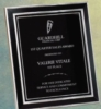 Black & Silver Aluminum Frame w/Black Aluminum Engraving Plate (10 1/4