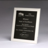 Polished Silver Aluminum Frame w/ Black Aluminum Plate (6 1/2