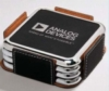 Individual Square Leather Coaster w/Silver Frame
