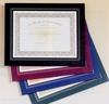 Burgundy Leatherette Frame Certificate Holder (10 3/4